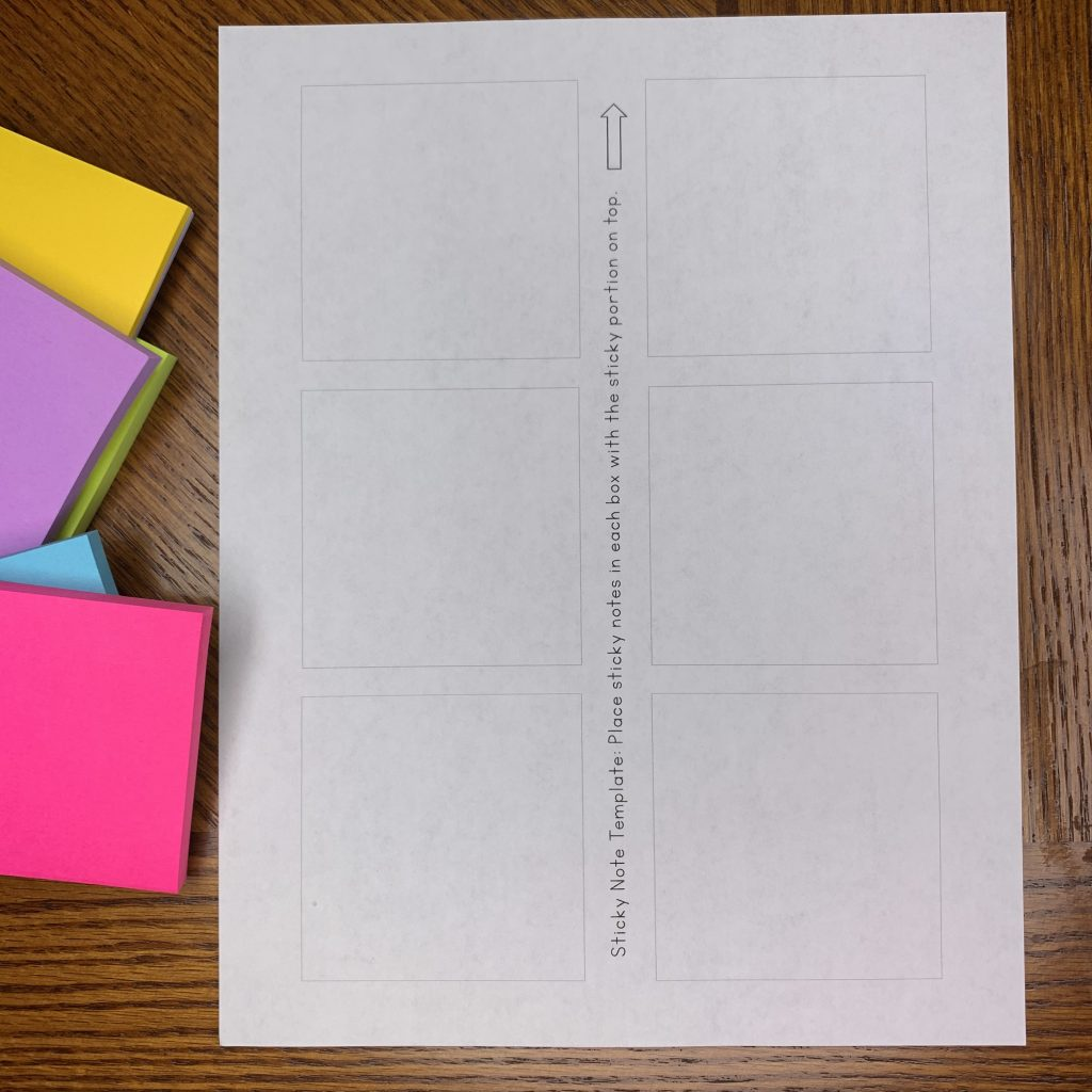blank sticky note template