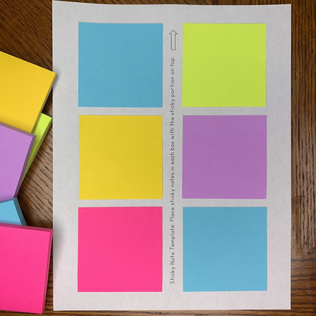 sticky note templates