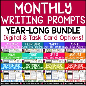 Monthly Writing Prompts and Writing Journals (digital)